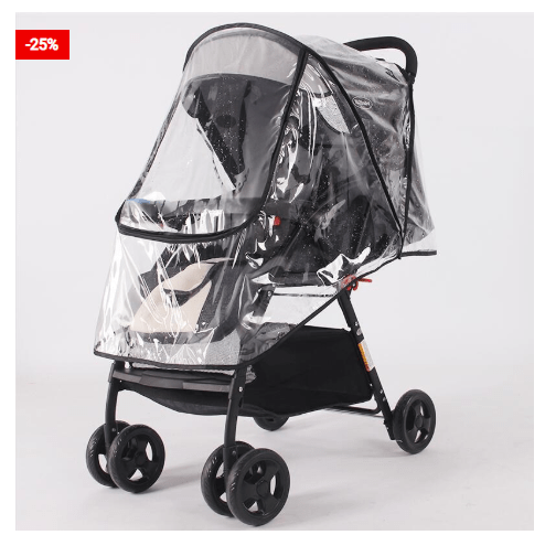 Stroller Rain Cover Waterproof Shield For Babies Outing